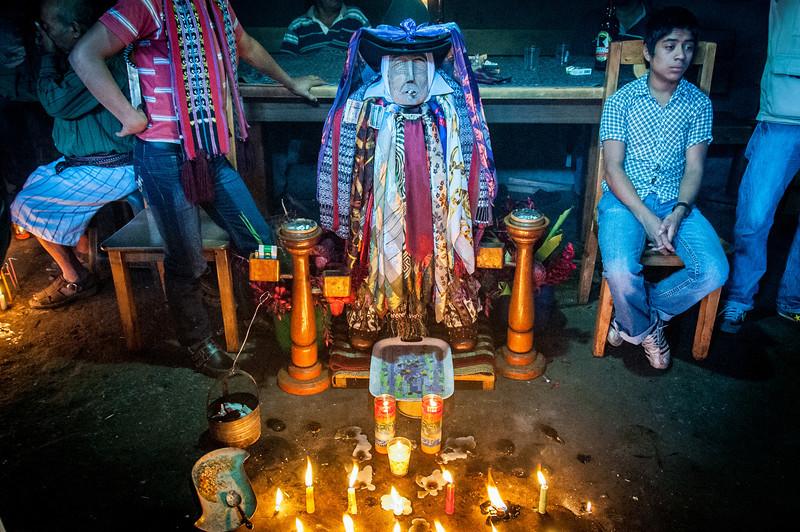 Shrine of Maximon in Santiago Atitlan, Guatemala