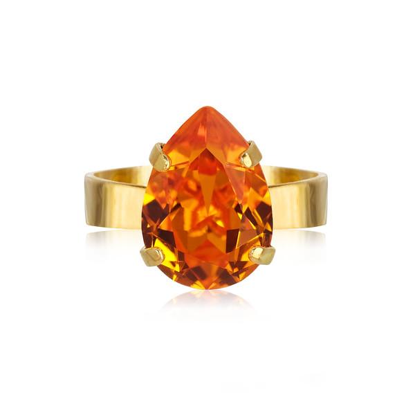 Mini Drop Ring / Tangerine