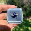 2.08ctw Sapphire and Diamond Ring, GIA No-Heat 16