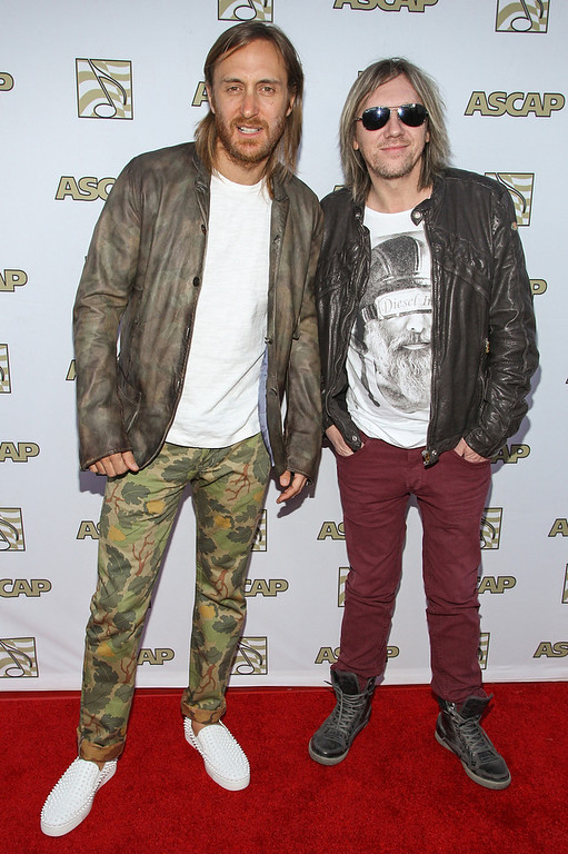 . David Guetta (L) and Fred Riesterer attends the 30th Annual ASCAP Pop Music Awards at Loews Hollywood Hotel on April 17, 2013 in Hollywood, California.  (Photo by Paul A. Hebert/Getty Images)