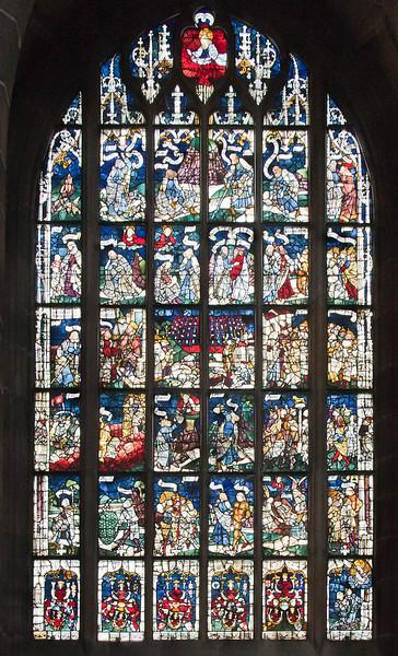 Nürnberg. St. Lorenz: Rieterfenster (nIV, 1479). Mosesgeschichte