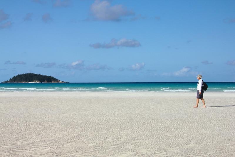 Whitehaven Beach on Whitsunday Island