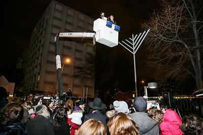 Public Menorah Lighting. Chabad of SUNY Downstate. December 17th, 2014