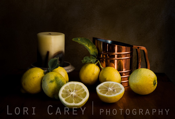 When Life Hands You Lemons II, still life with lemons