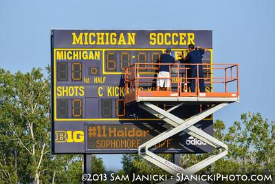 UM Women's Soccer Vs Eastern Michigan 8-30-13