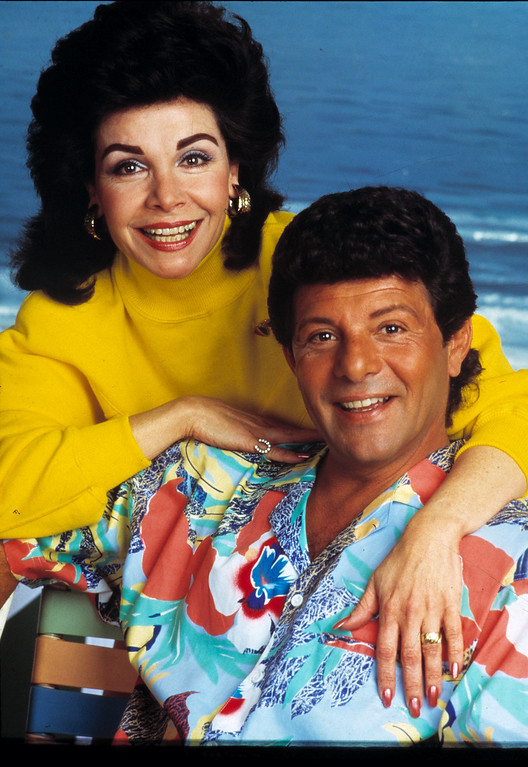 """. Annette Funicello and Frankie Avalon are seen in character in this 1987 publicity shot from the movie \""""Back to the Beach.\"""" (AP Photo)"""