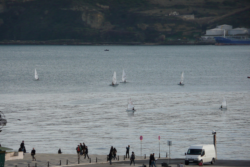 Small Sailboats on Rio Tejo. Belém, Lisbon