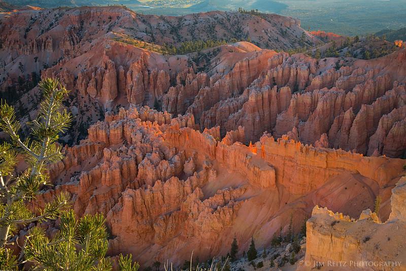 "Colorful canyon walls and ""hoodoos"" in Bryce Canyon National Park."