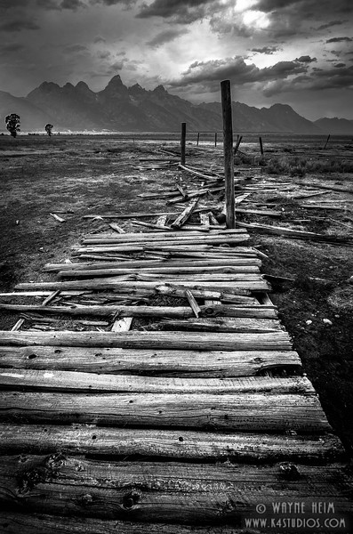 Old Fence - Black & White Photography by Wayne Heim