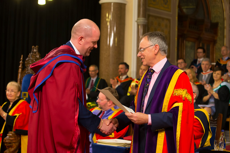 03/11/2017. Waterford Institute of Technology Conferring. Pictured is Colin Dillon who was conferred a PhD, also pictured is Prof. Willie Donnelly, President of WIT.  Picture: Patrick Browne.