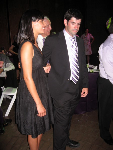 David (brother of the bride) escorts girlfriend Amber to the dance floor