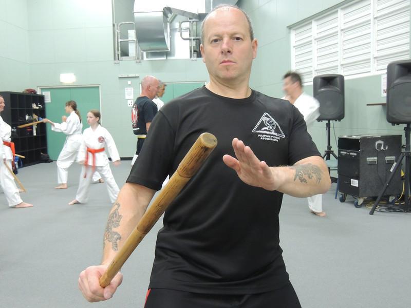 Grandmaster Angelo 8th Dan Founder Filipino Kyusho teaching on the Combat Karate Noosa Seminar February 2014