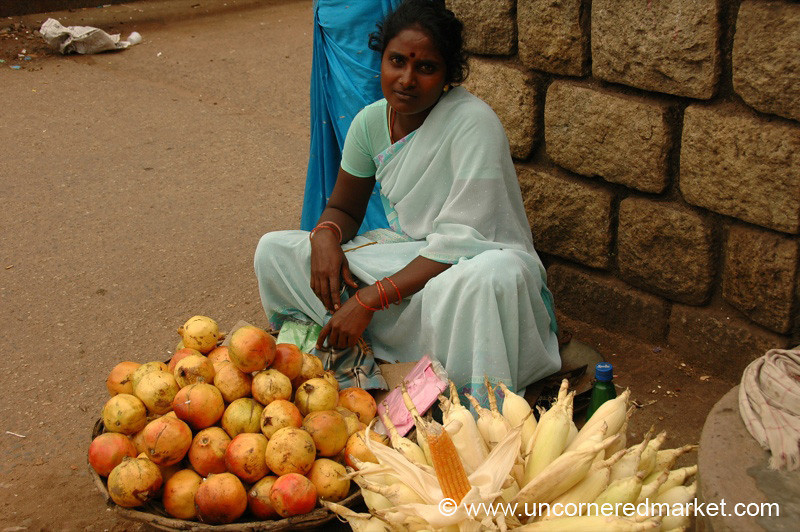 Pomegranates and Corn - Kollam, India