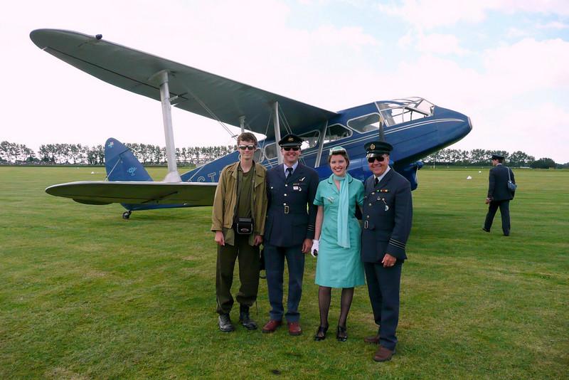 Goodwood 2007 our RAF uniforms, Jonathon Army and Jen, Air Hostess.