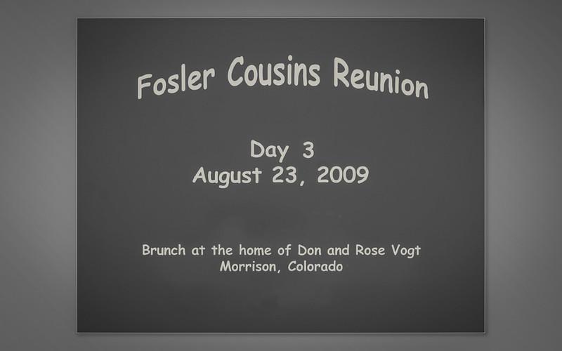 Fosler Cousins Reunion 2009
