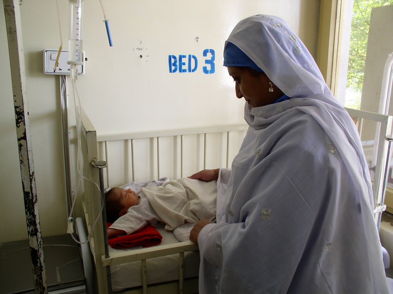 An angel of a nurse midwife who practices in a rural village.