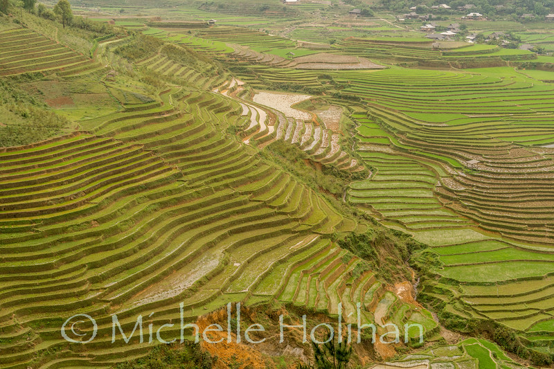 Rice terraces from the Cao Pha Village Viewpoint in Mu Cang Chai, Vietnam