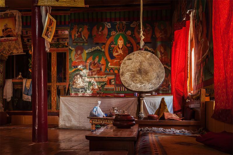 Inside Likir monastery. Ladakh, India