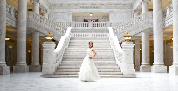 Bridals at the Utah Capitol Building