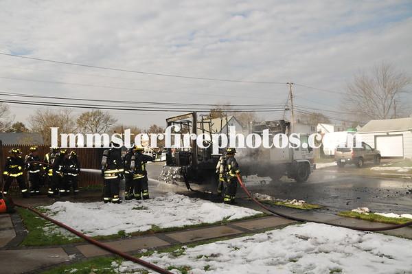HICKSVILLE FD TRUCK FIRE CONT FUEL OIL JORDAN LA