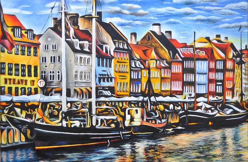 """""""Copenhagen"""" (oil on canvas) by Eric Li"""
