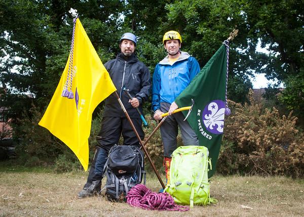 Phil & Dave, Mont Blanc, Baughurst Scouts
