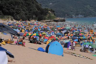 A day at Shirahama Beach in Shirahama-cho, Japan July 22, 2018