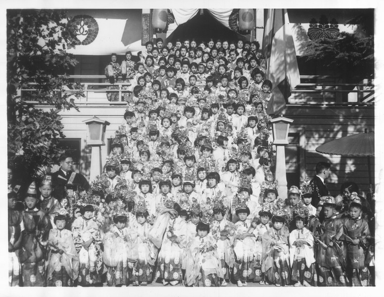 """Japanese Temple Ceremonies"" -- caption on photograph"