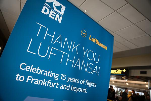 3-25-16 Lufthansa/DEN 15th Anniversary Gate Event