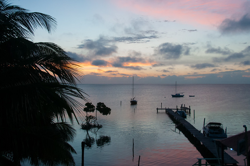 Sunset in Caye Caulker, Belize