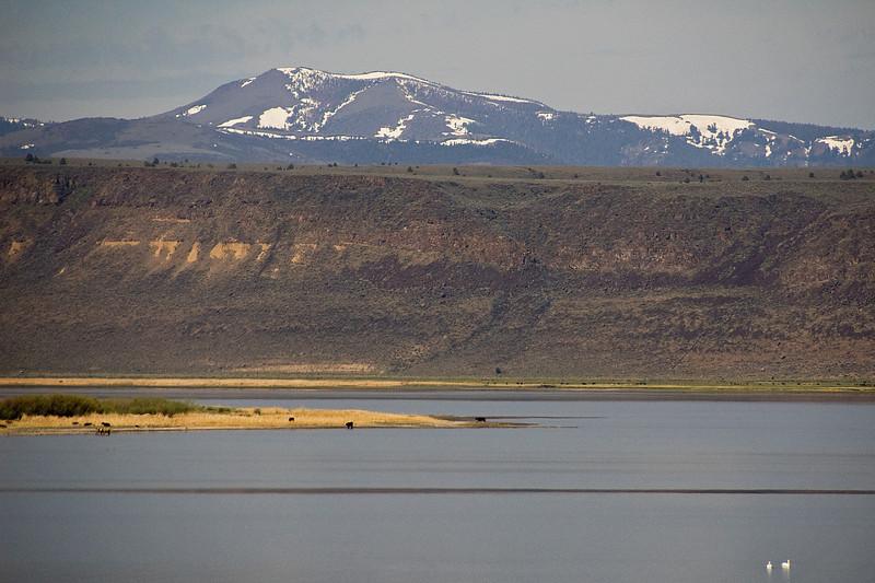 Hart lake as I head south toward Adel.