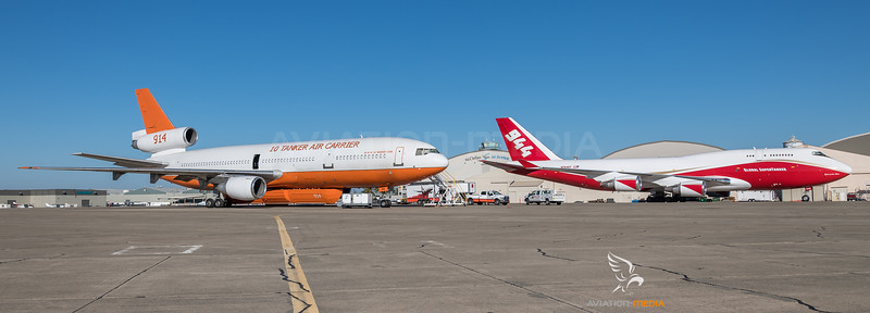 10 Tanker Air Carrier & Global SuperTanker Services / McDonnell Douglas DC-10-30ER & Boeing B747-446(BCF) / N603AX & N744ST