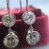 3.07ctw Double Old European Cut Dangle Earrings 1
