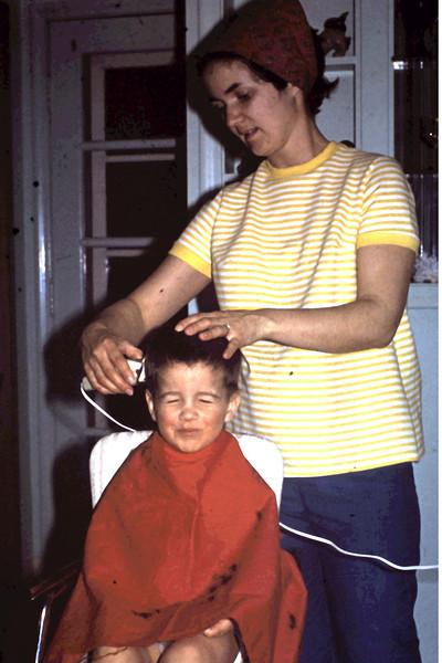 Randy 17 mos haircut in Richfield  kitchen by Jo.jpg