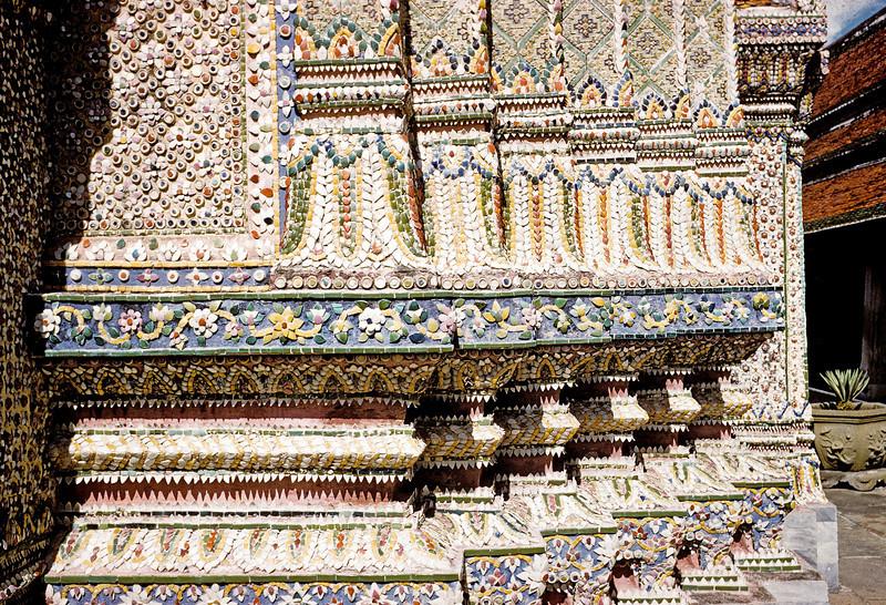 King's Palace detail - of broken crockery - Thailand