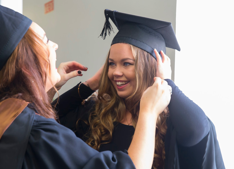28/10/2015. Waterford Institute of Technology Conferring. Pictured are Jane O'Connell from Waterford city and Chloe Thompson of Carlow who graduated Bachelor of Arts (Hons) in Applied Social Studies in Social Care. Picture: Patrick Browne