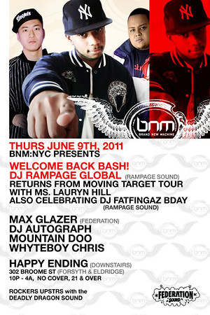 Happy Ending Lounge-Welcome back bash. DJ Rampage (6..9.11)