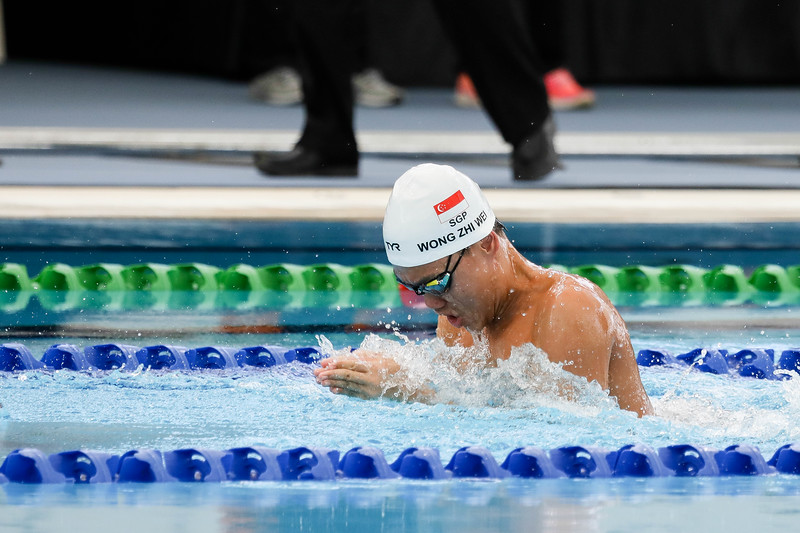 PARA SWIMMING - ZHI WEI WONG in action & representing Singapore in Mens 50 LC Meter Breaststroke SB13  Finals at Aquatics Centre, KL on September 18th, 2017 (Photo by Sanketa Anand)