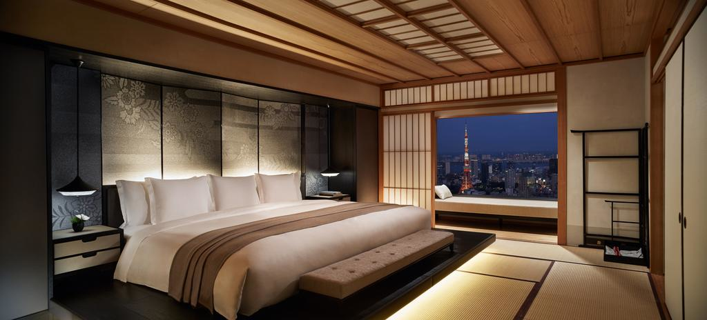 Guest room at the Ritz-Carlton Tokyo