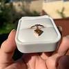 .84ct Fancy Deep Orange-Yellow Shield Shape Diamond Charm Ring 8