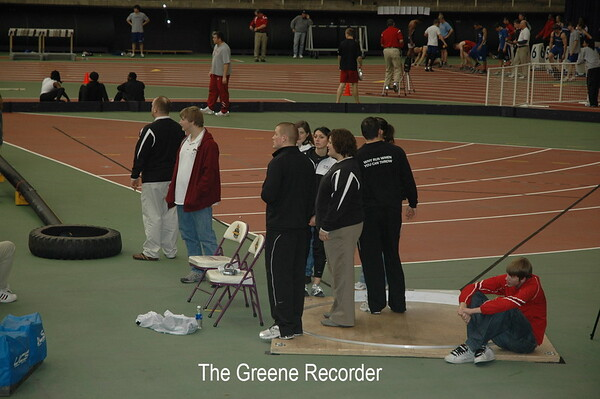 Courtney at UNI Track Meet