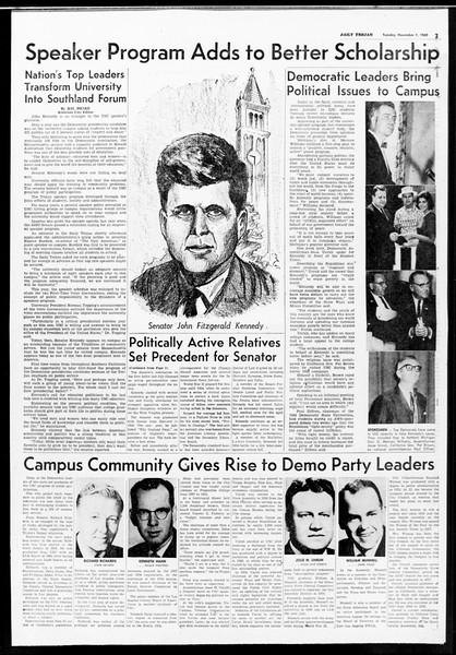 Daily Trojan, Vol. 52, No. 31, November 01, 1960