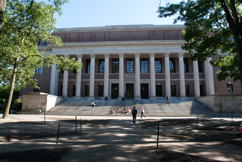 Day 6 - The famous Widener Library on the Harvard campus