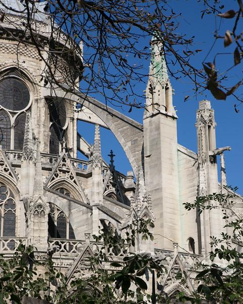 Notre-Dame de Paris Cathedral Apse Flying Buttresses