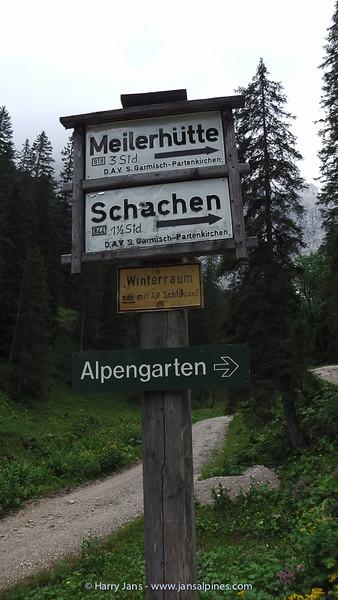 halfway to the Schachen Garden