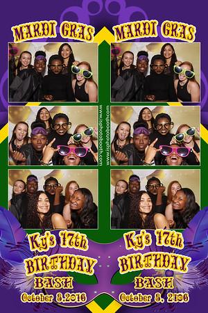 Ky's 17th Birthday Mardi Gras