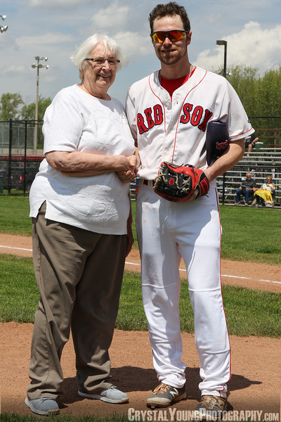 Sue Harris first pitch