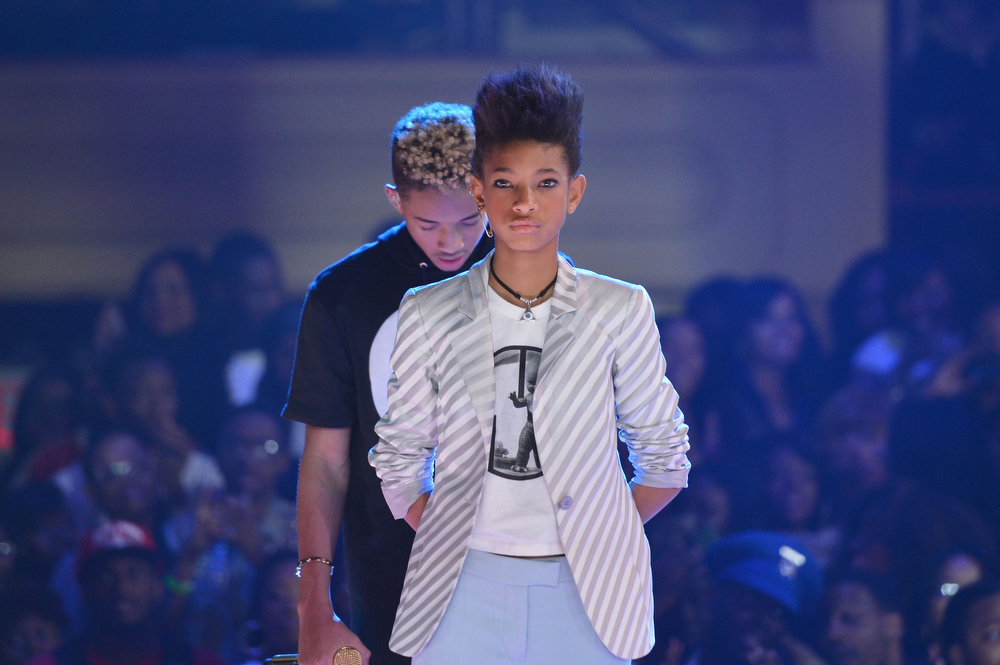 . Jaden Smith, and Willow Smith attend BET\'s Rip The Runway 2013:Show at Hammerstein Ballroom on February 27, 2013 in New York City.  (Photo by Stephen Lovekin/Getty Images for BET\'s Rip The Runway)