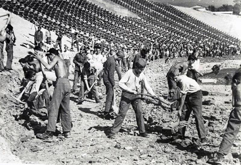 Stadion Kosevo u izgradnji 1947.jpg