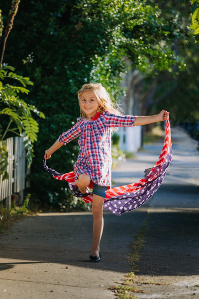 Girls Red White and Blue Plaid dress